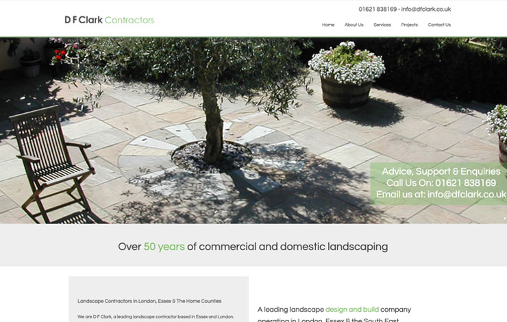 Website Design for D F Clark | Landscape Contractors in London