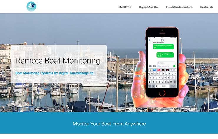 Website Design for Remote Boat Monitoring Systems | Digital Gardianage Ltd