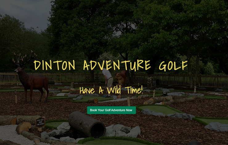 Website Design for Adventure Golf Course in Wokingham | Dinton Adventure Golf