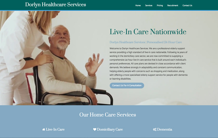 Website Design for Live-In Care Nationwide | Dorlyn Healthcare Services