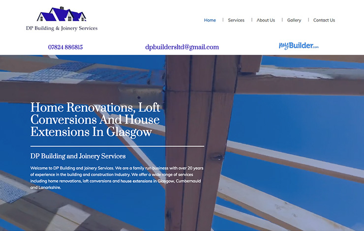 Website Design for House extensions in Glasgow | DP Building and Joinery