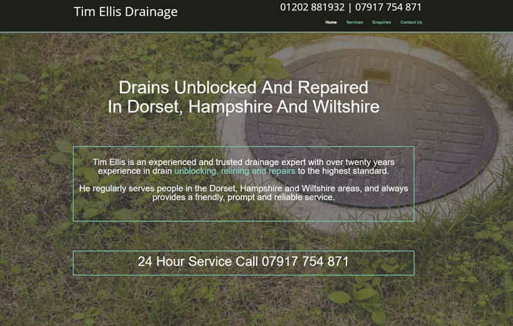 unblock drains in Dorset, Hampshire and Wiltshire
