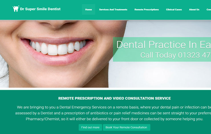 Website Design for Dentist in Eastbourne and East Sussex