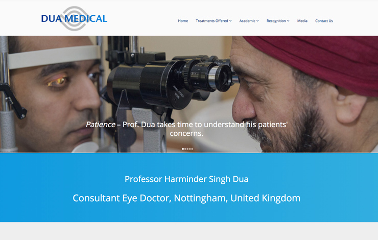 Website Design for Consultant Eye Doctor Nottingham | Harminder Singh Dua