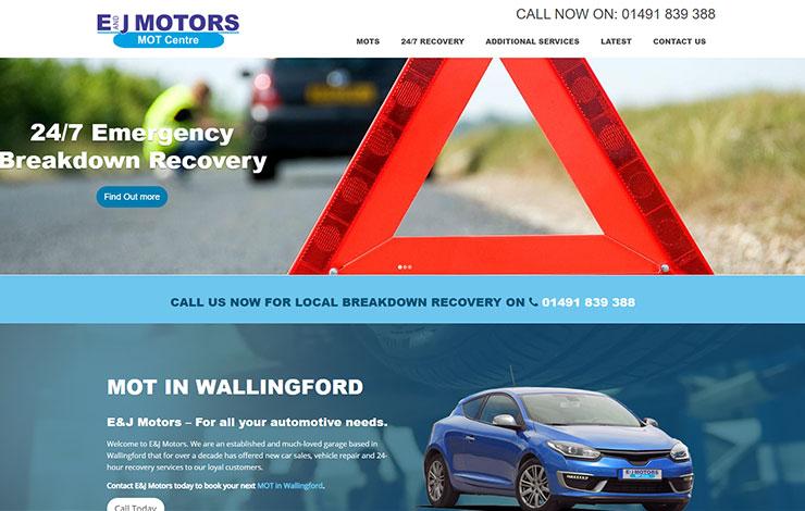 E and J Motors | MOT Centre Wallingford | Roadside Recovery
