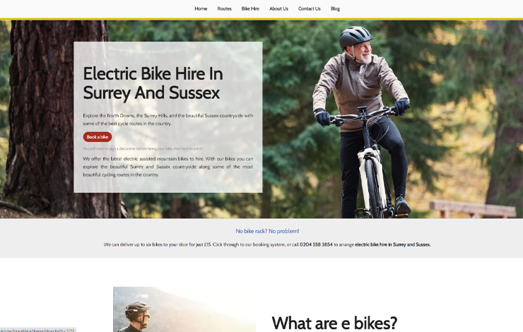 Electric Bike Hire in Surrey and Sussex