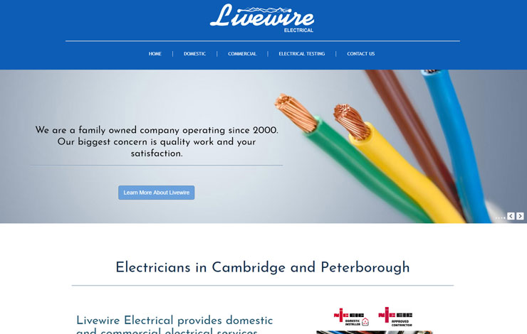 Website Design for Electricians in Cambridge and Peterborough