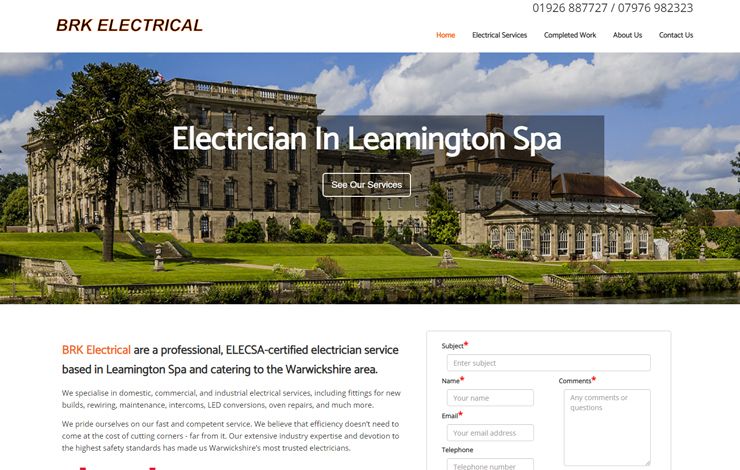 Electrician in Leamington Spa | BRK Electrical