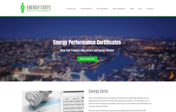 Energy Performance Certificates | Energy Certs | Home