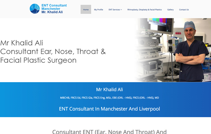 Website Design for ENT Consultant Manchester | Dr Khalid Ali