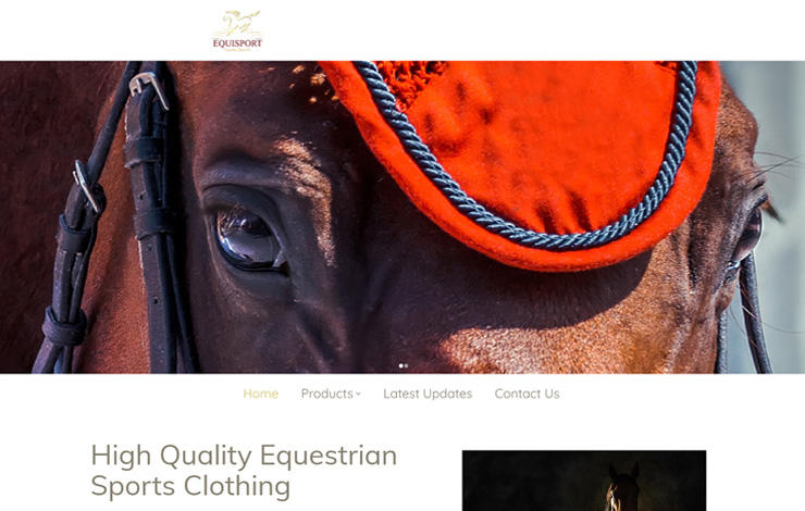 Website Design for Equestrian Sports Clothing | EquiSport
