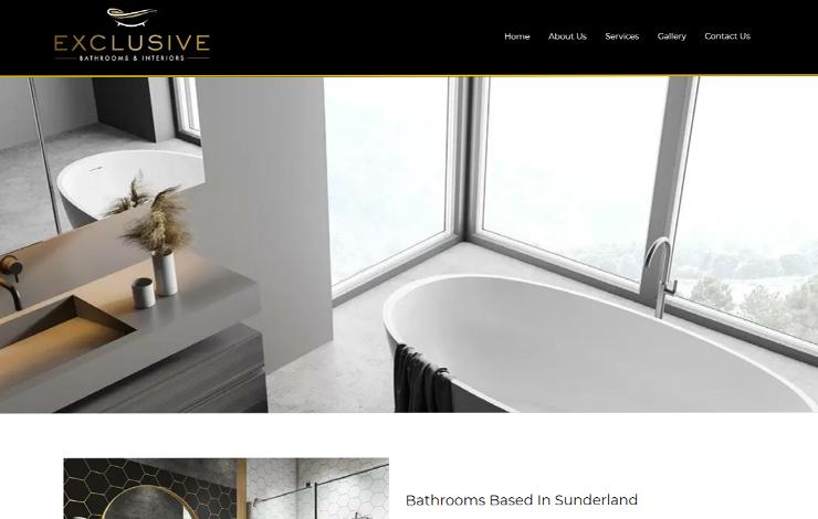 Website Design for Bathrooms Based In Sunderland | Exclusive Bathrooms