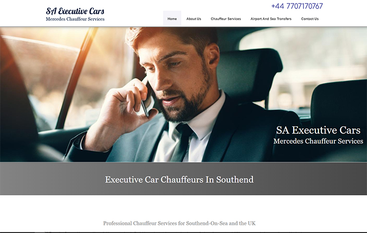 Website Design for Executive Car Chauffeurs In Southend