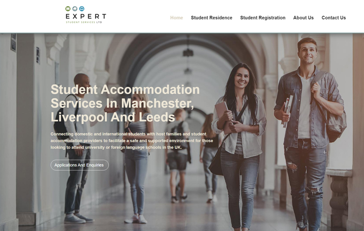 Website Design for Student Accommodation Services in Manchester