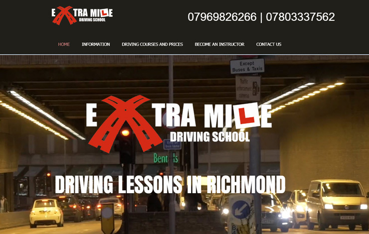 Website Design for Driving Lessons in Richmond and West London