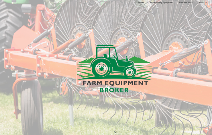 Website Design for Farm Equipment Broker Selling Tractors and Farm Equipment
