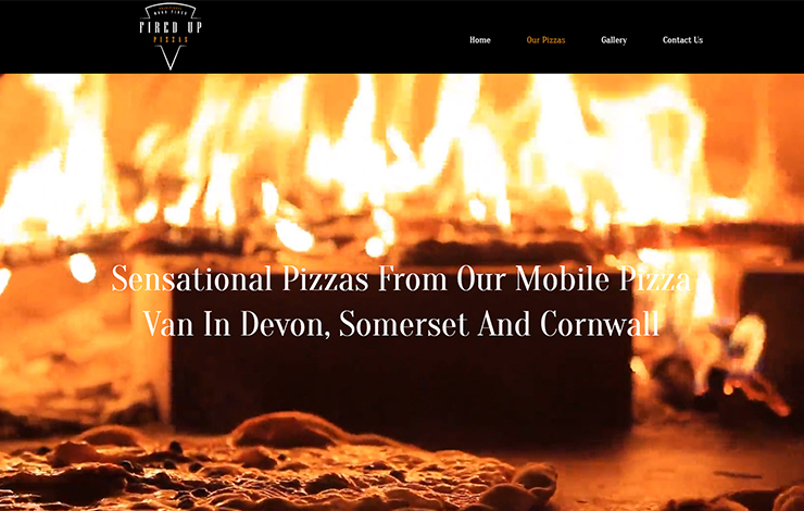 Website Design for Mobile pizza van in Devon | Fired Up