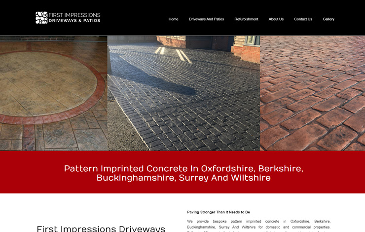 First Impressions Driveways and Patios | Pattern Imprinted Concrete in Oxfordshire