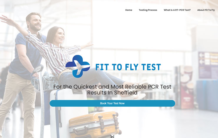 Website Design for Fit To Fly PCR Tests in Sheffield | Covid Holiday Testing