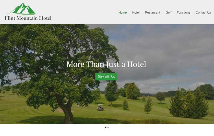 Website Design for Hotel in North Wales and Cheshire | Flint Mountain Park Hotel
