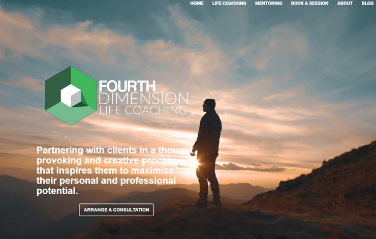 Website Design for Life Coaching and Mentoring |  Fourth Dimension