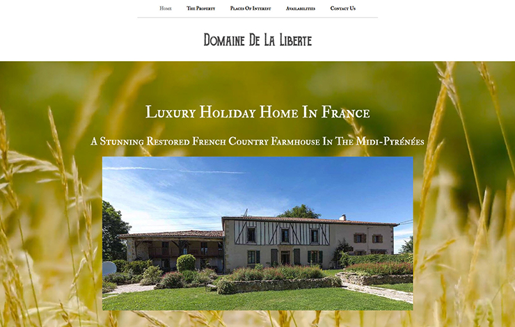 Website Design for Luxury holiday home in France | Domaine De La Liberte