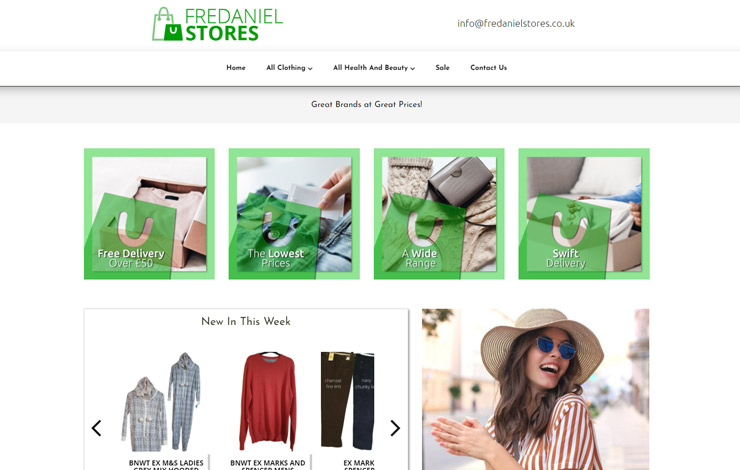 Fredaniel Stores LTD | Fashion Outlet UK