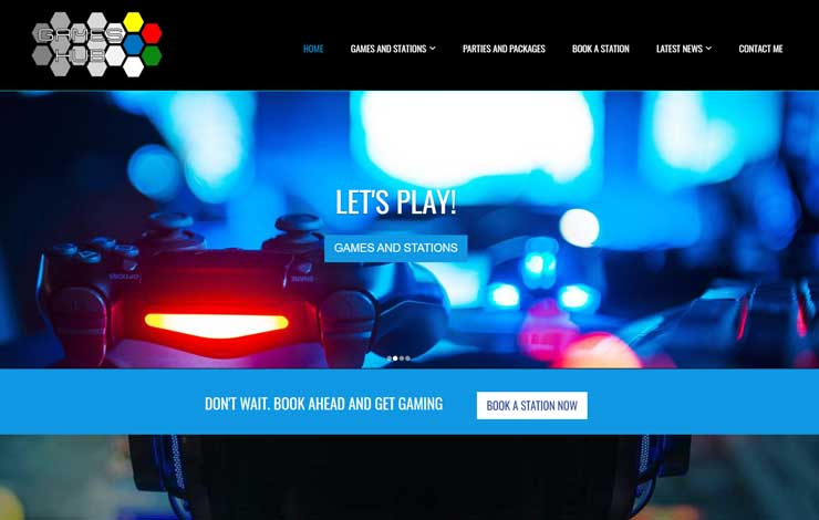 Website Design for Games Hub | No'1 Gaming Centre in Bury