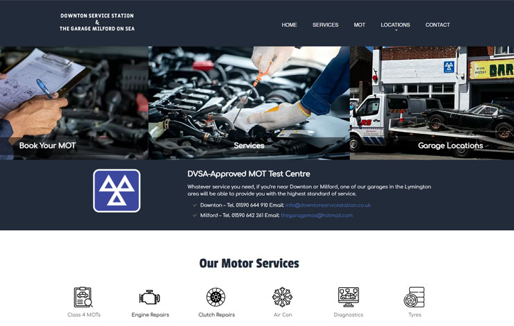 Repair garage MOT testing Lymington New Milton
