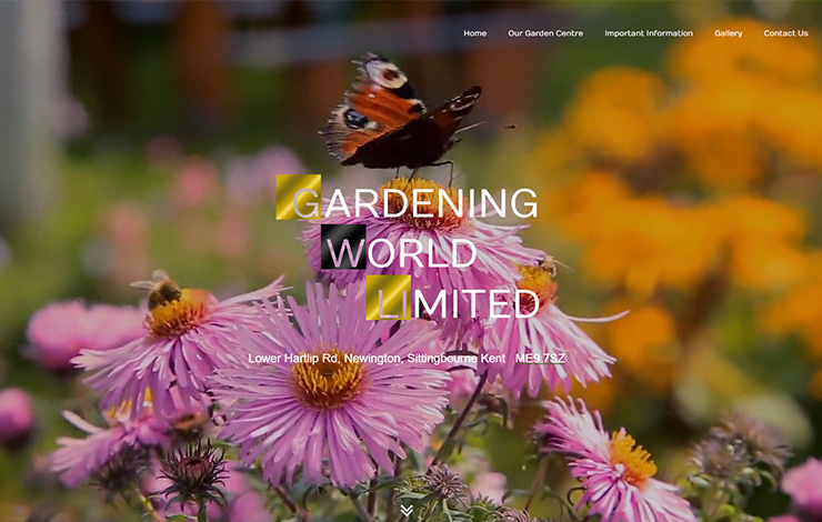 Website Design for Garden centre in Kent | Gardening World Ltd. Sittingbourne