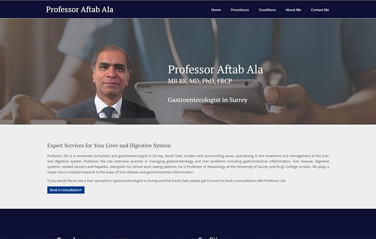Gastroenterologist in Surrey | Professor Aftab Ala