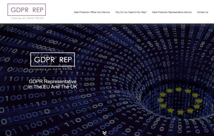 Website Design for GDPR Representative | GDPR Rep