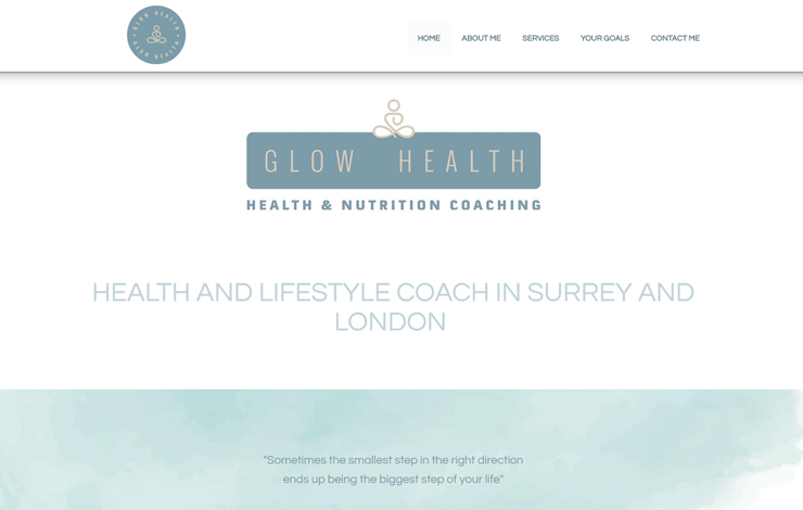 Website Design for Glow Health | Health and Lifestyle Coach in Surrey and London