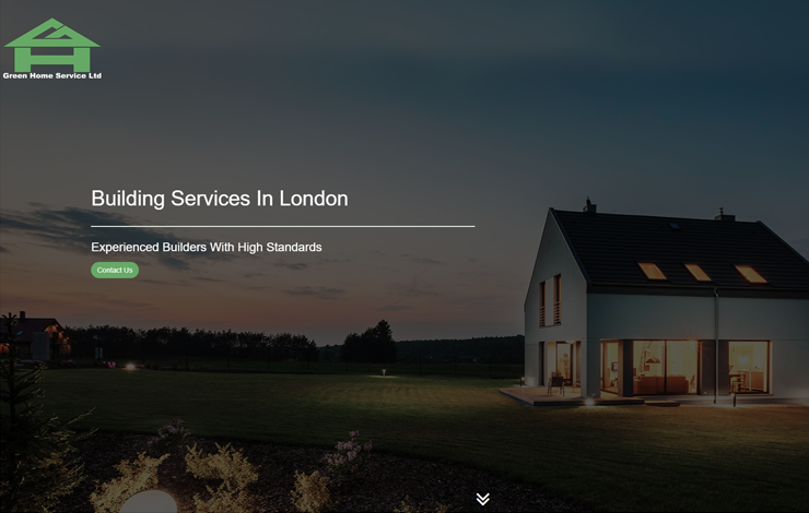 Website Design for Green Home Services | Building Services in London