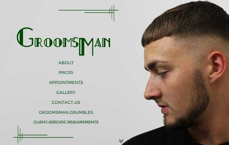 Website Design for Expert Barbers in Eastbourne | Groomsman