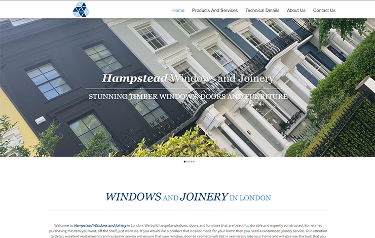 Website Design for Windows and Joinery in London | Hampstead Windows and Joinery