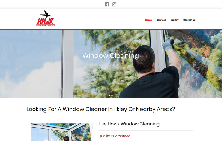 Website Design for Hawk Window Cleaning in Ilkley
