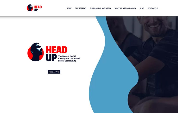Website Design for HEAD UP | Armed Forces Mental Health Charity