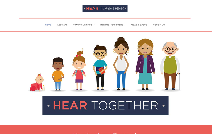 Website Design for Hearing loss support | Hear Together