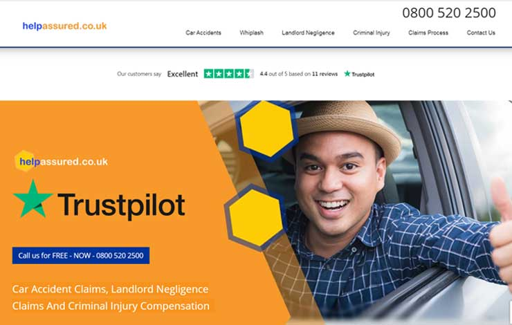 Website Design for Car Accident Claims in the UK | Help Assured