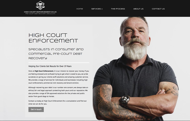 Website Design for High Court Enforcement | Pre-Court Debt Recovery Specialists