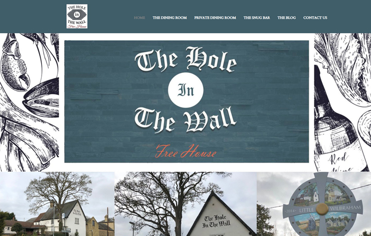 Website Design for Country pub in Cambridge | The Hole in The Wall