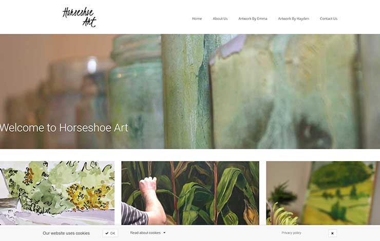 Website Design for Horseshoe Art | Cotswold Artists, Emma and Hayden