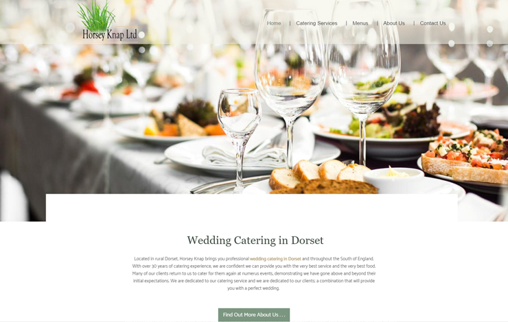 Website Design for Wedding Catering in Dorset