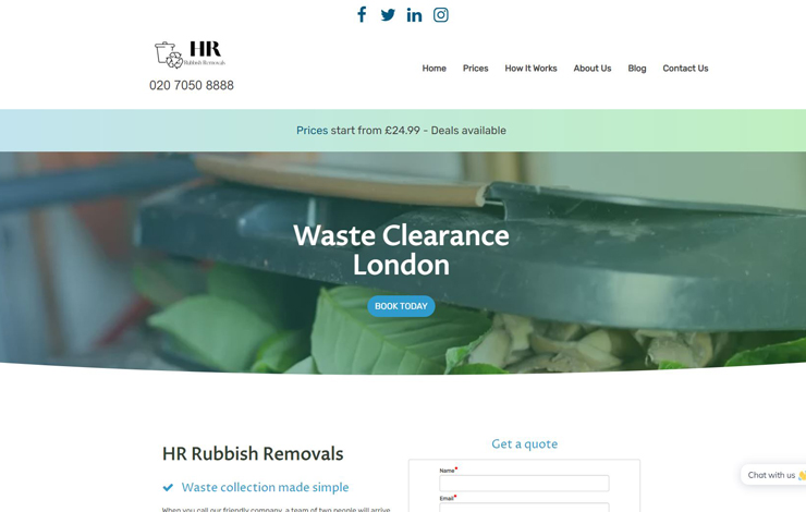 Home | HR Rubbish Removals | Waste Clearance in London