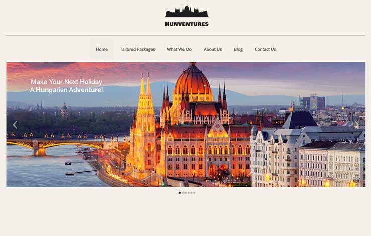 Website Design for Tailor-made Travel to Hungary | Hunventures