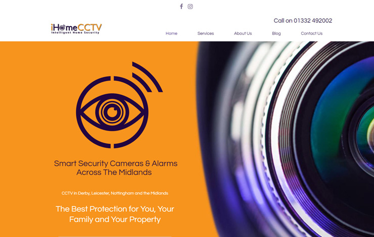 Website Design for CCTV in Derby | Home Security Systems | iHome CCTV