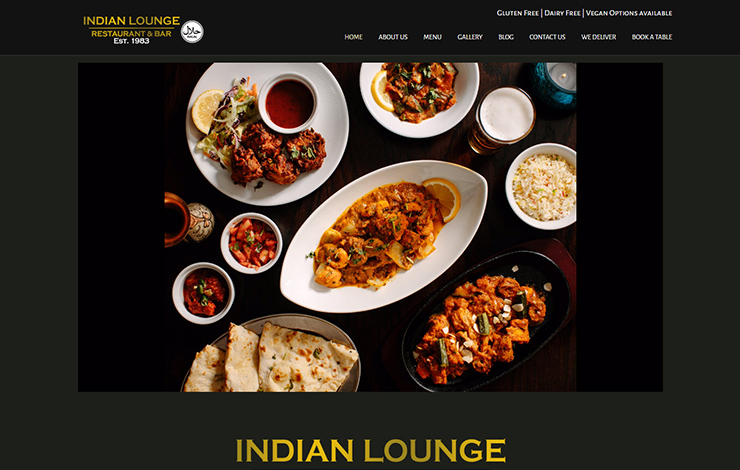 Website Design for Indian restaurant in Edinburgh | Indian Lounge Edinburgh