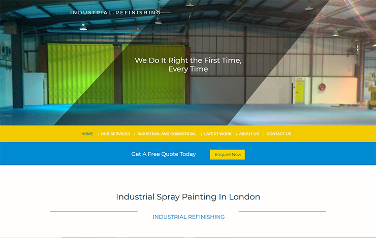 Industrial Spray Painting in London