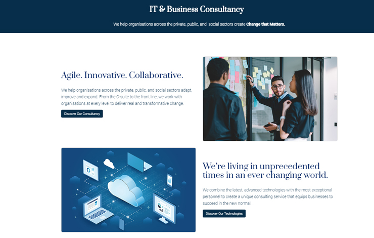 Website Design for Ingenium Consulting | IT and Business Consultancy